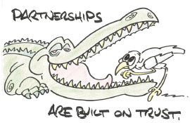 Partnerships are built on trust