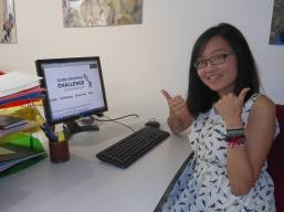 Staff membe, Lily, enjoying your business plans!