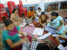 The ladies employed by Nirmaan Enterprise.