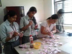 Students at DLF Public School demonstrating teamwork