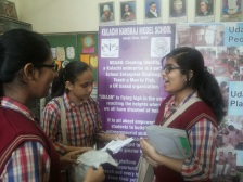 Confident young entrepreneurs at Kulachi HansRaj Model School, India.