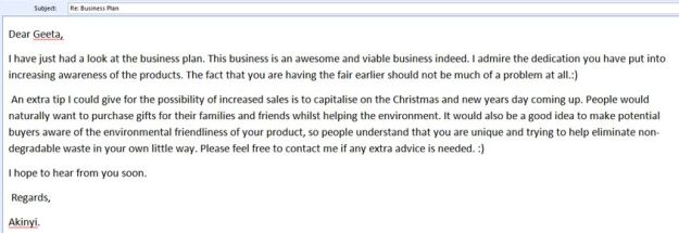 email example 2